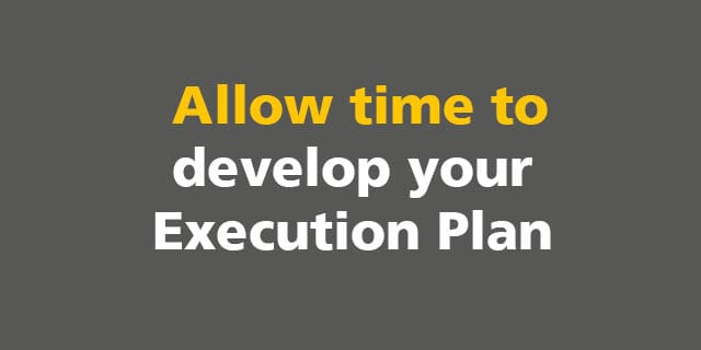 BIM: Allow time to develop your Execution Plan
