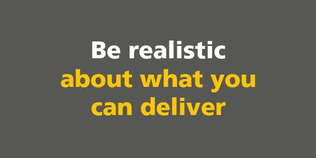 BIM: Be realistic about what you can deliver
