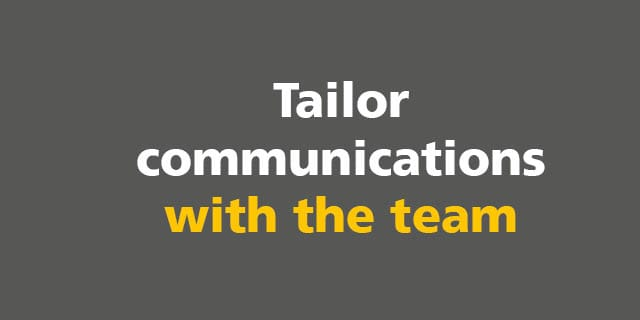 BIM: Tailor communications with the team