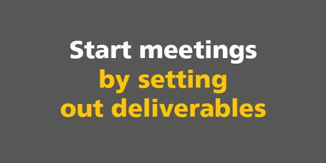 BIM: Start meetings by setting out deliverables