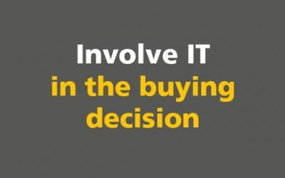BIM: Involve IT in the buying decision