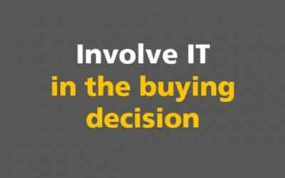 BIM: Involve IT in the buying decision