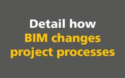 BIM: Detail how BIM changes project processes