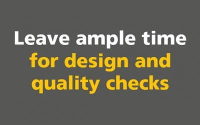 BIM: Leave ample time for design and quality checks