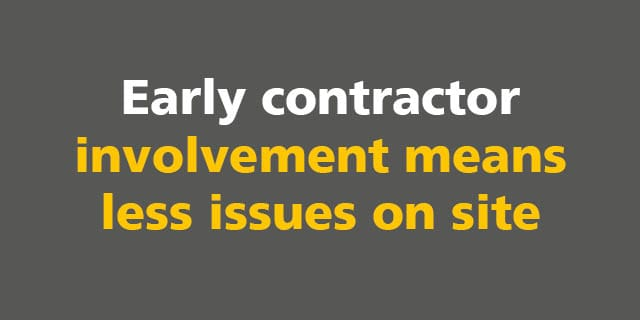 BIM: Early contractor involvement means less issues on site