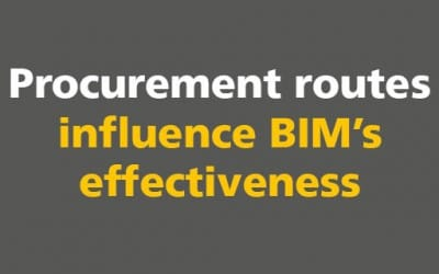 Procurement routes influence BIM's effectiveness
