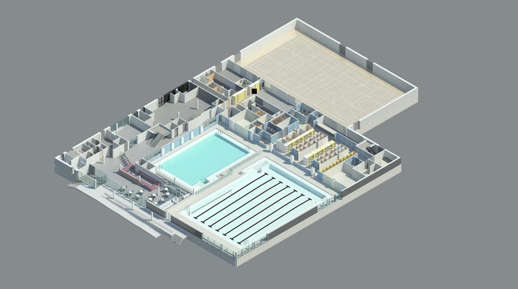 Visuals of the new leisure centre. Image copyright: S&P Architects