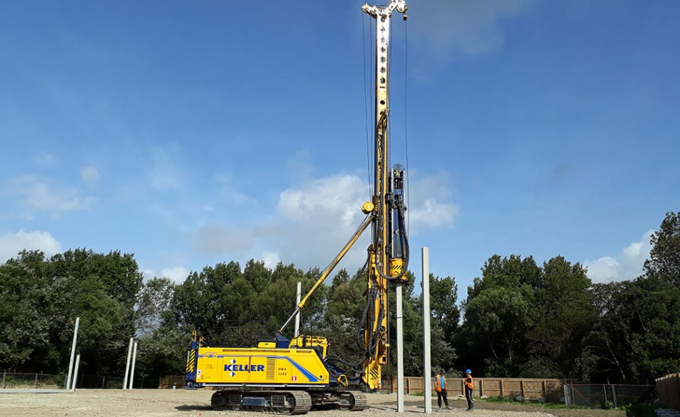 Piling works begin on site