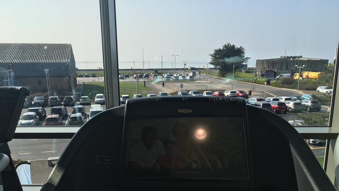 The view from the gym to the sea